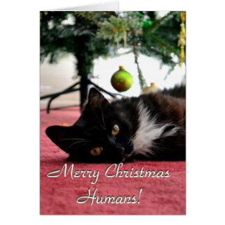 Tarjeta ¡Seres humanos de las Felices Navidad!