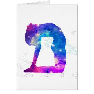 Tarjeta Serie de la diosa de la yoga del universo