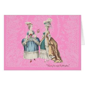 Tarjeta Serie del vintage de Marie Antonieta -… -