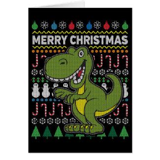 Tarjeta Serie fea verde de la fauna del suéter del navidad