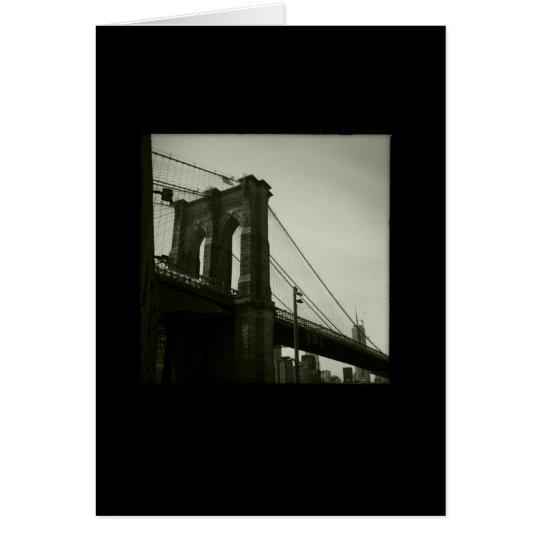 Tarjeta Serie icónica de Nueva York: Puente de Brooklyn