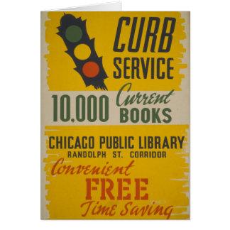 Tarjeta Servicio del encintado de la biblioteca pública de