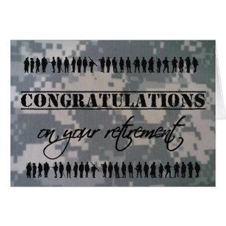 Tarjeta Servicio militar del retiro de la enhorabuena