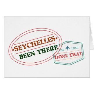 Tarjeta Seychelles allí hecho eso