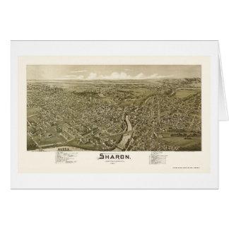 Tarjeta Sharon, mapa panorámico del PA - 1901