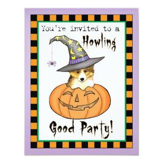 Tarjeta Sheltie Halloween