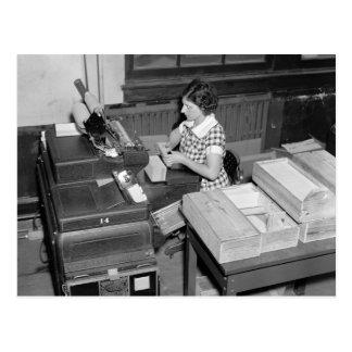 Tarjeta Shuffler, 1937 Postal