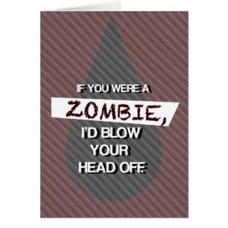 Tarjeta Si usted era un zombi