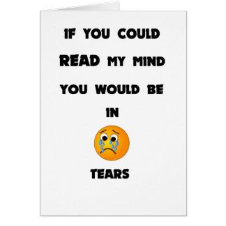 Tarjeta si usted podría leer mi mente usted estaría en