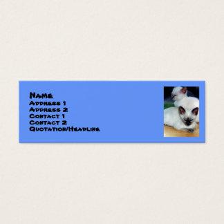 Tarjeta siamesa del perfil de los gatitos