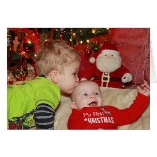Tarjeta ¡Siente como su primer navidad!