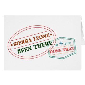 Tarjeta Sierra Leone allí hecho eso
