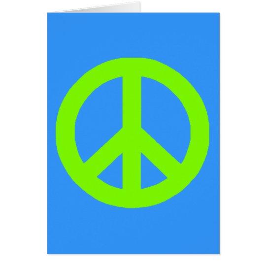 Tarjeta Signo de la paz