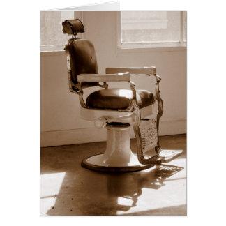 Tarjeta Silla de peluquero antigua