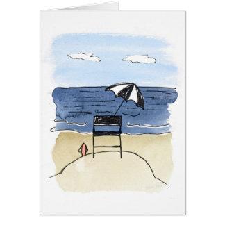 Tarjeta Silla del salvavidas en la playa Notecards