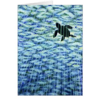 Tarjeta Silueta de la tortuga de mar