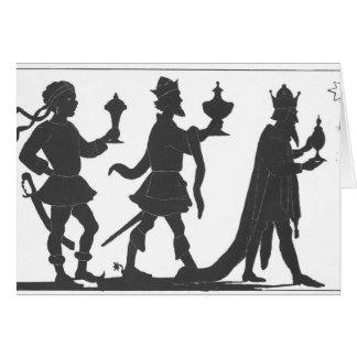 Tarjeta Silueta de los tres reyes