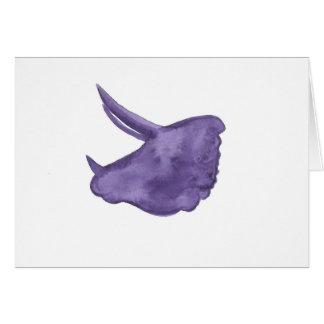 Tarjeta Silueta púrpura del Triceratops
