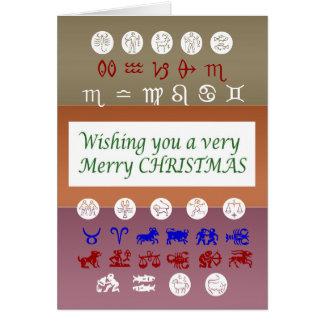 Tarjeta Símbolo de la astrología del zodiaco: Navidad de