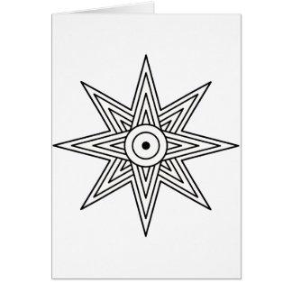Tarjeta Símbolo de la estrella de Ishtar