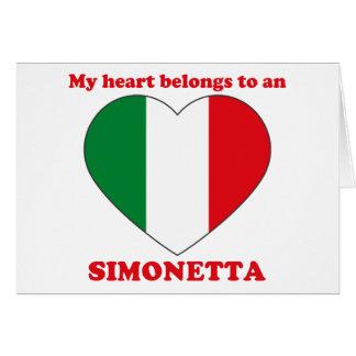 Tarjeta Simonetta