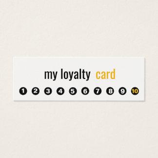 Tarjeta simple de la lealtad del cliente del