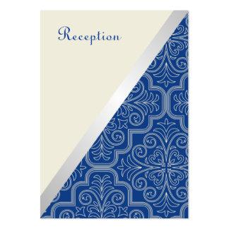Tarjeta simple de la recepción nupcial de la tarjetas de visita grandes