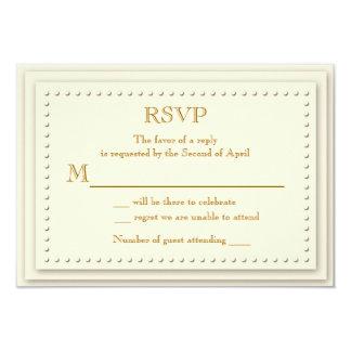 Tarjeta simple de RSVP de la crema de la elegancia
