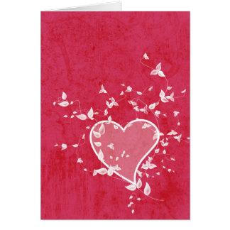Tarjeta simple del el día de San Valentín del amor
