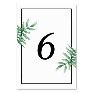 Tarjeta simple del número de la tabla del boda