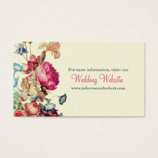 Tarjeta simple del Web site de RSVP del boda