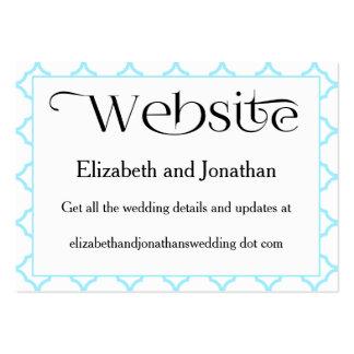 Tarjeta simple del Web site del boda de Quatrefoil Tarjetas De Visita Grandes