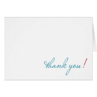 Tarjeta simple gracias notecard