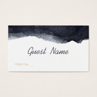 Tarjeta simple moderna del lugar del boda de la