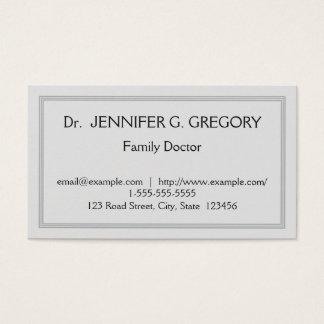 Tarjeta simple y profesional del médico de