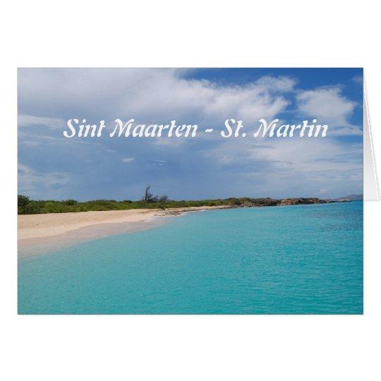 Tarjeta Sint Maarten - escena de la playa de San Martín