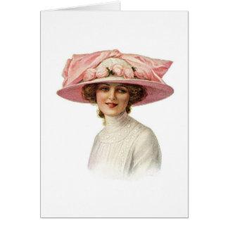 Tarjeta Sistema de sombrerería del vintage Notecard (3)