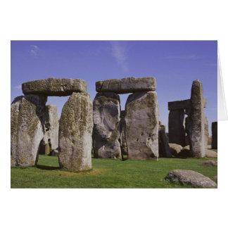 Tarjeta Sitio arqueológico de Stonehenge, Londres,