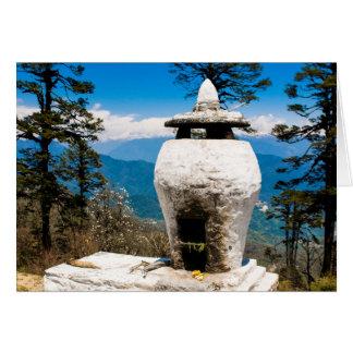 Tarjeta Sitio budista de la adoración
