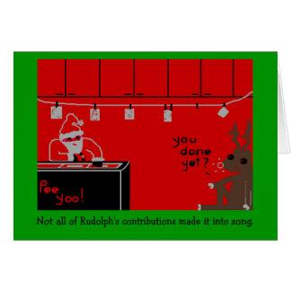 Tarjeta Sitio oscuro de Rudolph