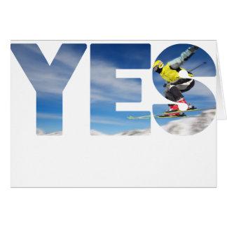 Tarjeta Skijumping