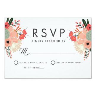 Tarjeta Sobres blancos estándar florales de Anya RSVP