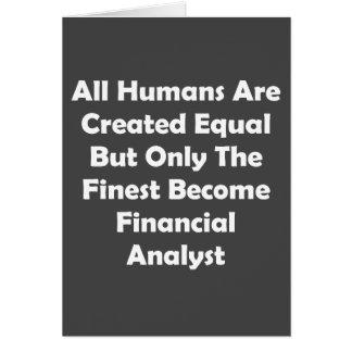 Tarjeta Solamente el analista financiero convertido más