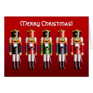 Tarjeta Soldados de juguete del cascanueces de Navidad en