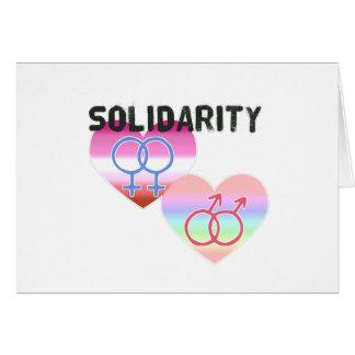 Tarjeta Solidaridad gay lesbiana