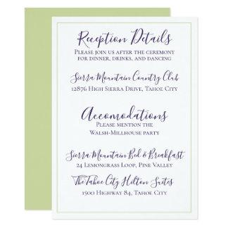 Tarjeta Solo boda de color morado oscuro minimalista del