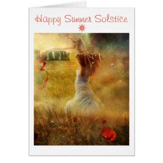 Tarjeta Solsticio de verano feliz