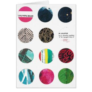 Tarjeta Solsticio y rosa de doce círculos