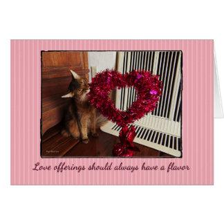 Tarjeta somalí del gato de las ofrendas del amor