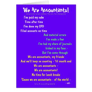 Tarjeta ¡Somos contables! Adaptable de doble cara